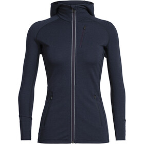 Icebreaker Quantum LS Zip Hood Jacket Women midnight navy